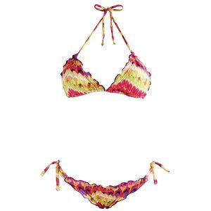 NWT Anne Cole POP CULTURE Chain Link Underwire Bikini Skirted Swim Suit M